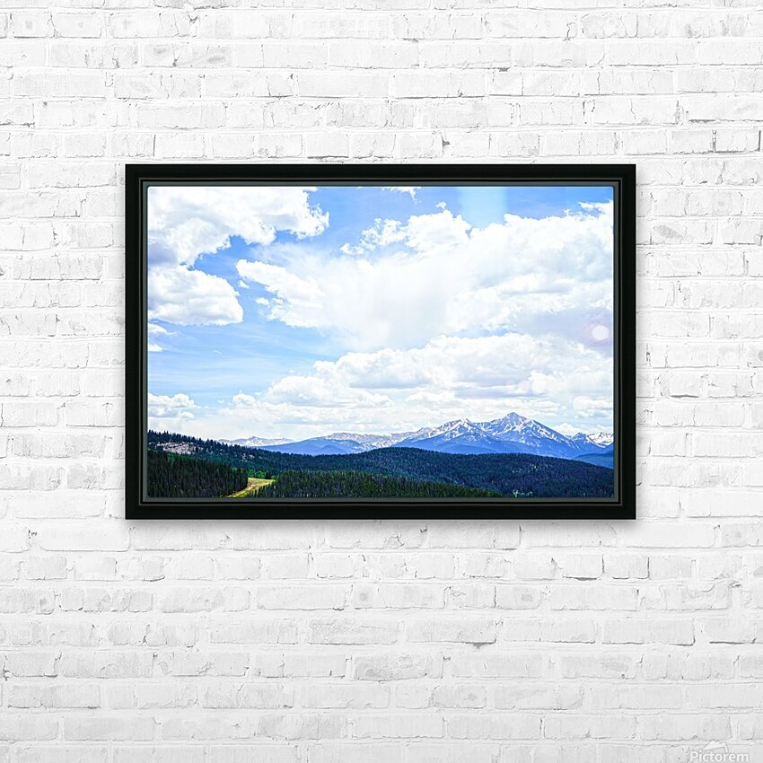 The Sawatch Range Colorado HD Sublimation Metal print with Decorating Float Frame (BOX)
