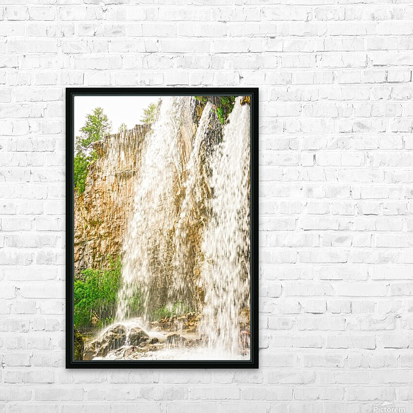Rocky Mountain Rapids and Waterfalls 3 of 8 HD Sublimation Metal print with Decorating Float Frame (BOX)
