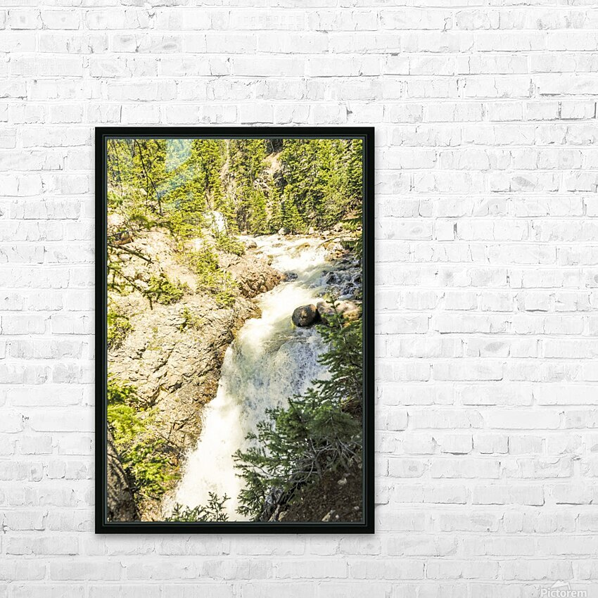 Rocky Mountain Rapids and Waterfalls 6 of 8 HD Sublimation Metal print with Decorating Float Frame (BOX)