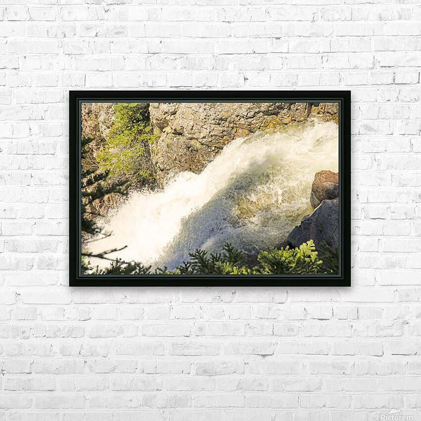 Rocky Mountain Rapids and Waterfalls 7 of 8 HD Sublimation Metal print with Decorating Float Frame (BOX)