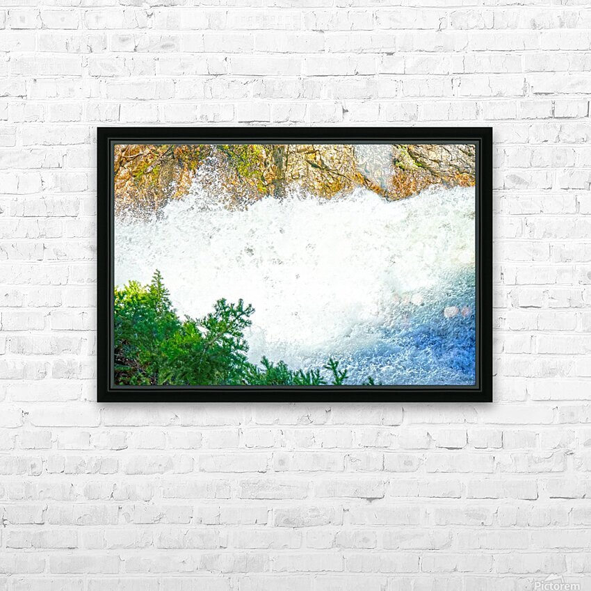 Rocky Mountain Rapids and Waterfalls 1 of 8 HD Sublimation Metal print with Decorating Float Frame (BOX)
