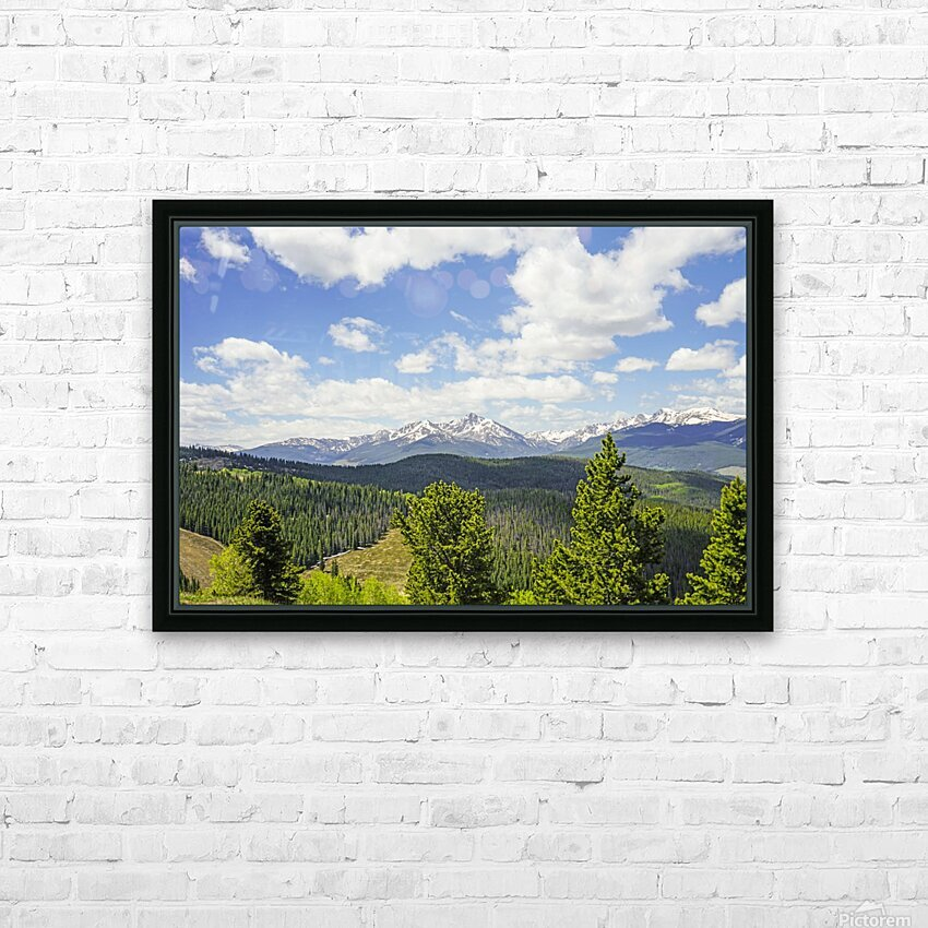 Back Country Colorado 1 of 8 HD Sublimation Metal print with Decorating Float Frame (BOX)