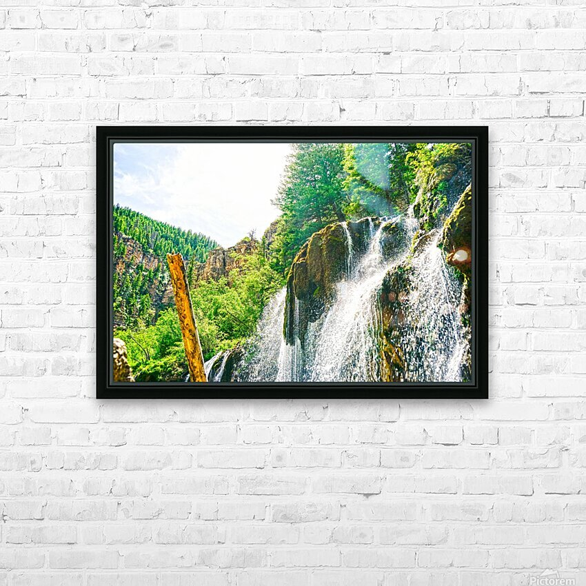 Waterfall Country Colorado 1 of 4 HD Sublimation Metal print with Decorating Float Frame (BOX)