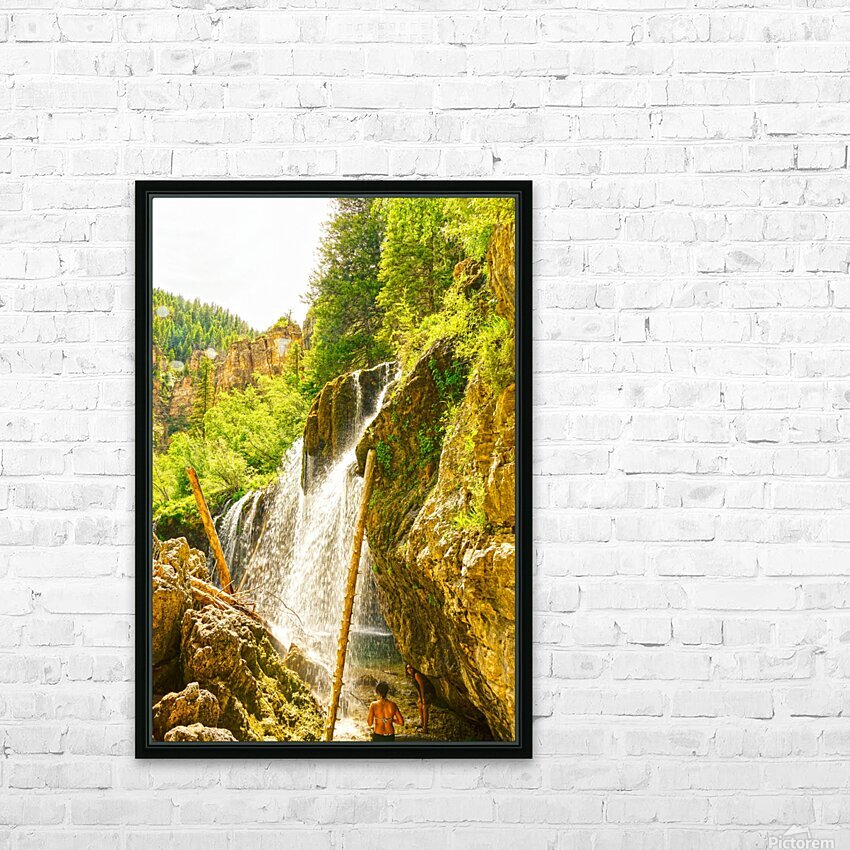 Waterfall Country Colorado 4 of 4 HD Sublimation Metal print with Decorating Float Frame (BOX)