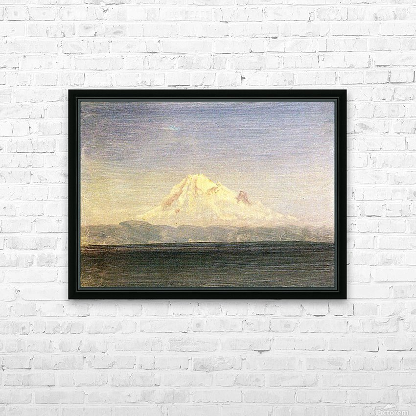 Snowy Mountains in the Pacific Northwest by Bierstadt HD Sublimation Metal print with Decorating Float Frame (BOX)