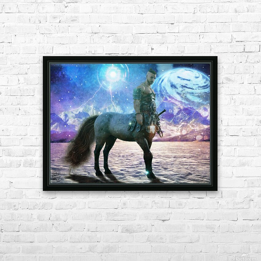 The Winter Warden HD Sublimation Metal print with Decorating Float Frame (BOX)
