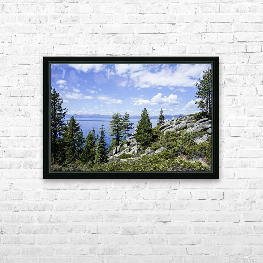 Spring at Lake Tahoe 5 of 7 HD Sublimation Metal print with Decorating Float Frame (BOX)