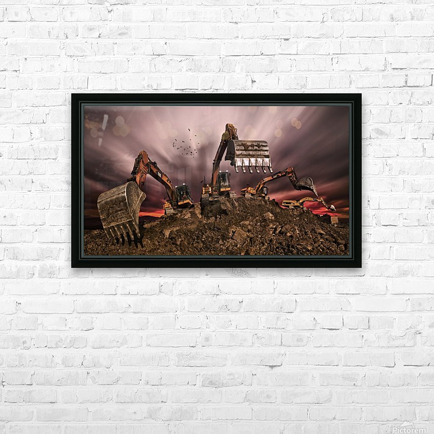 Invasion HD Sublimation Metal print with Decorating Float Frame (BOX)