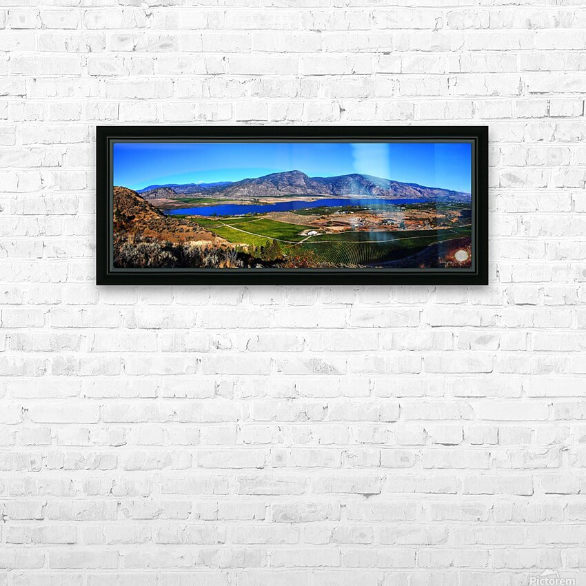 Osoyoos Panorama HD Sublimation Metal print with Decorating Float Frame (BOX)