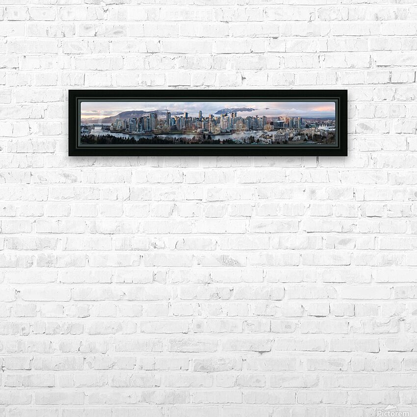 Vancouver Skyline Panorama HD Sublimation Metal print with Decorating Float Frame (BOX)