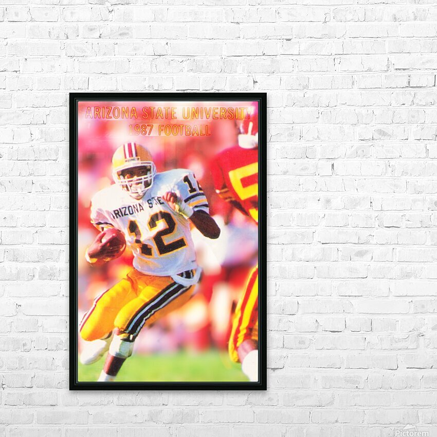 1987 Arizona State Football Poster HD Sublimation Metal print with Decorating Float Frame (BOX)