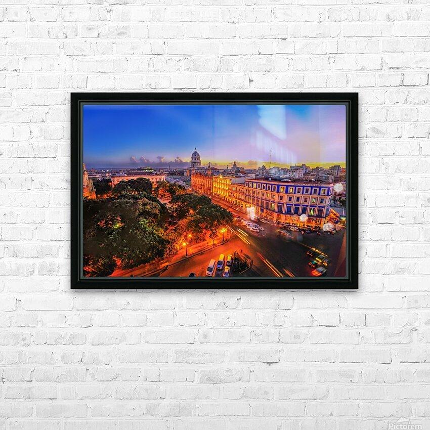 Havana Cuba HD Sublimation Metal print with Decorating Float Frame (BOX)
