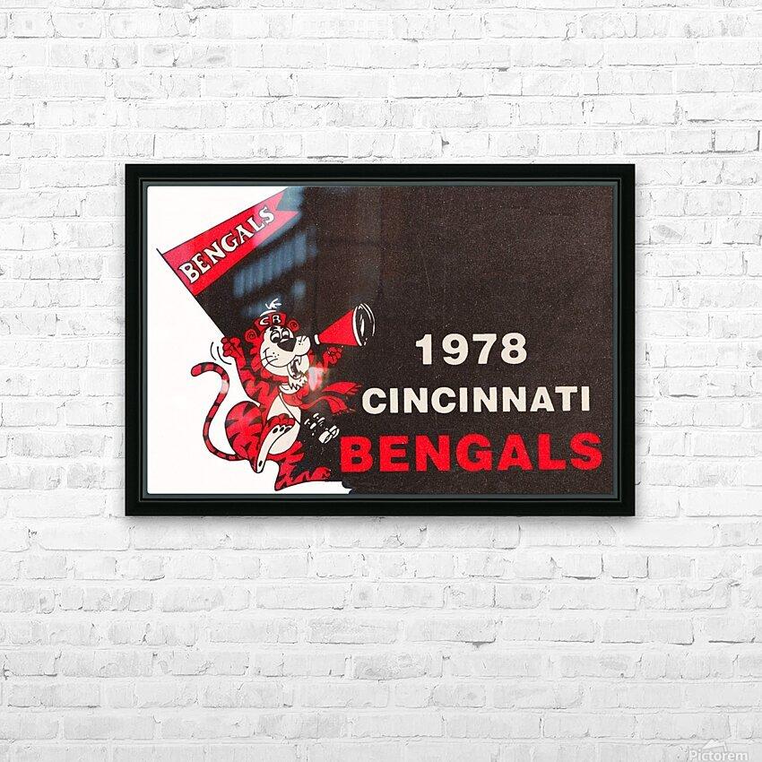 1978 Cincinnati Bengals Poster   HD Sublimation Metal print with Decorating Float Frame (BOX)