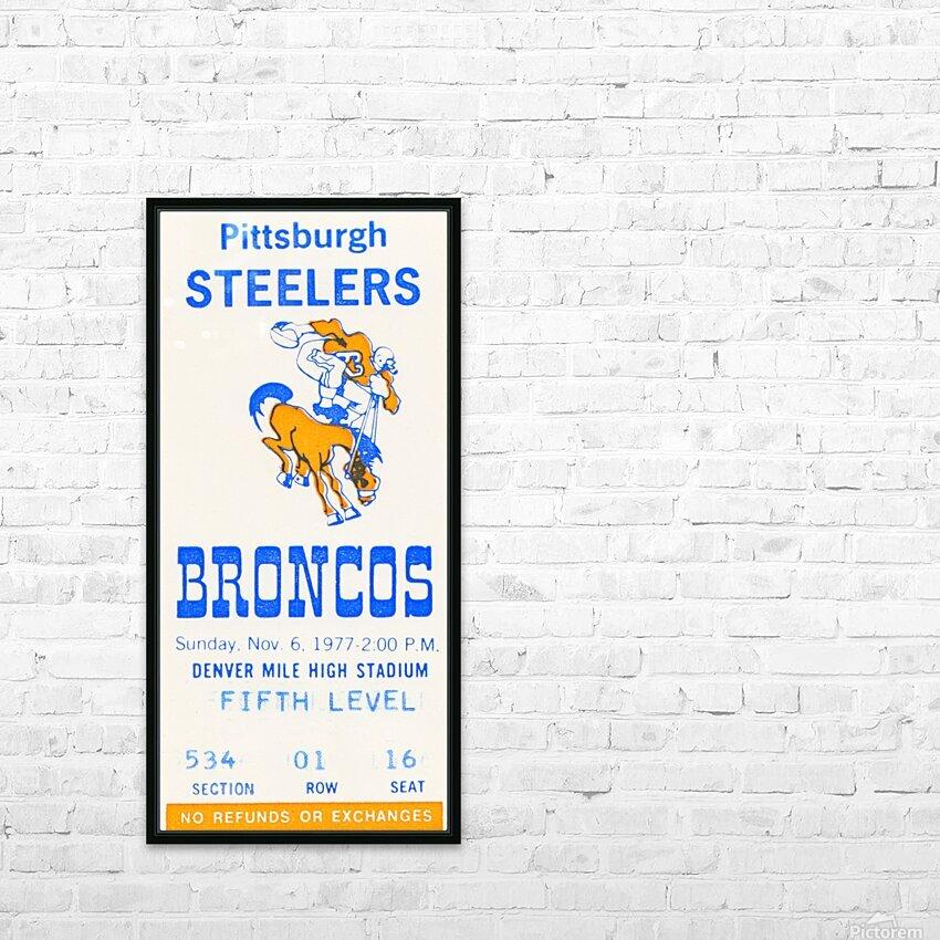 1977 Denver Broncos vs. Pittsburgh HD Sublimation Metal print with Decorating Float Frame (BOX)