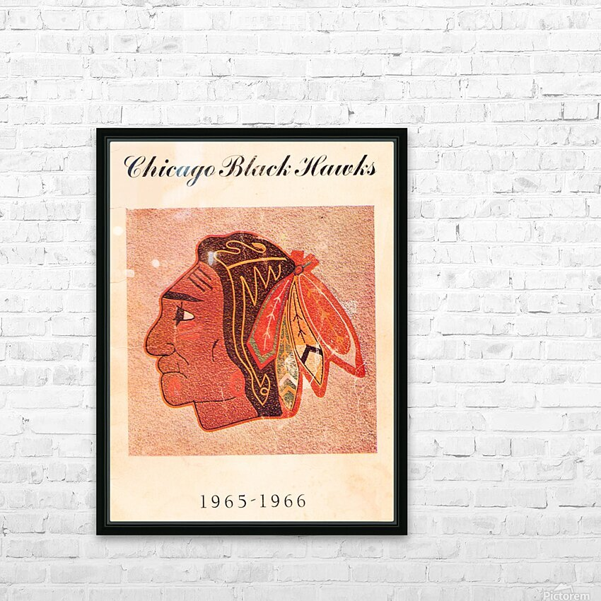 1965 Chicago Black Hawks Art HD Sublimation Metal print with Decorating Float Frame (BOX)