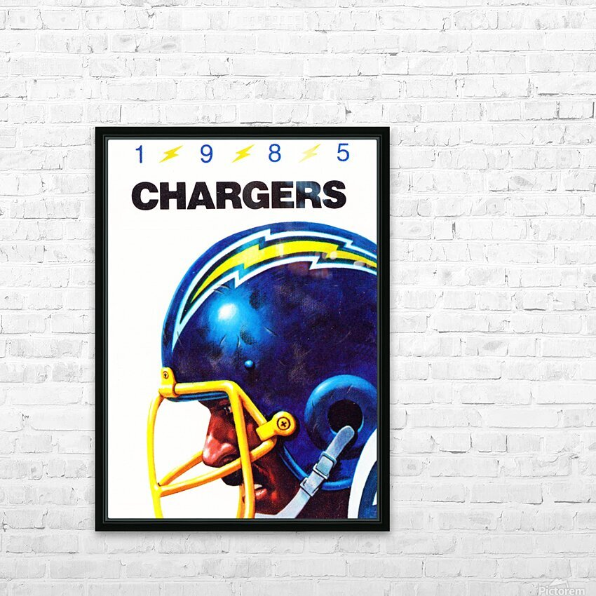 1985 San Diego Chargers Football Poster HD Sublimation Metal print with Decorating Float Frame (BOX)