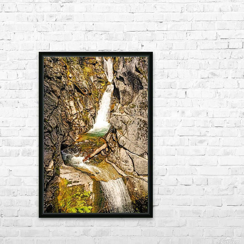 Cascading Falls HD Sublimation Metal print with Decorating Float Frame (BOX)