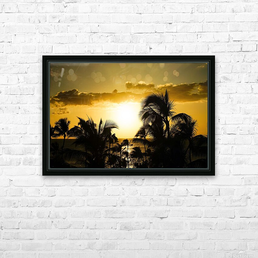 Radiant Hawaii HD Sublimation Metal print with Decorating Float Frame (BOX)