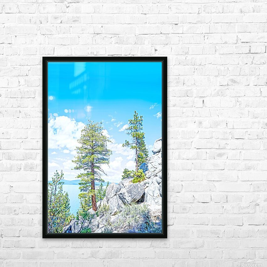 Top of the Mountain HD Sublimation Metal print with Decorating Float Frame (BOX)