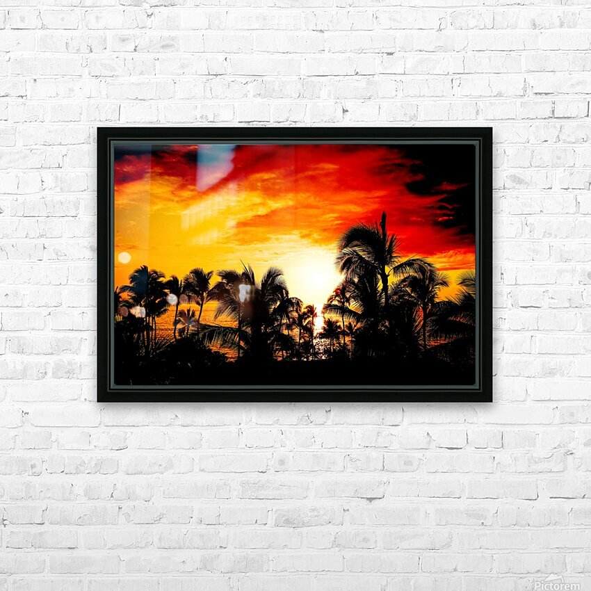 Fire in the Heavens HD Sublimation Metal print with Decorating Float Frame (BOX)