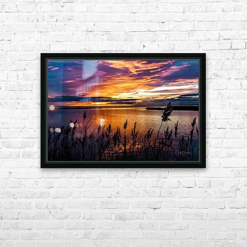 Coucher Soleil Scamandre HD Sublimation Metal print with Decorating Float Frame (BOX)