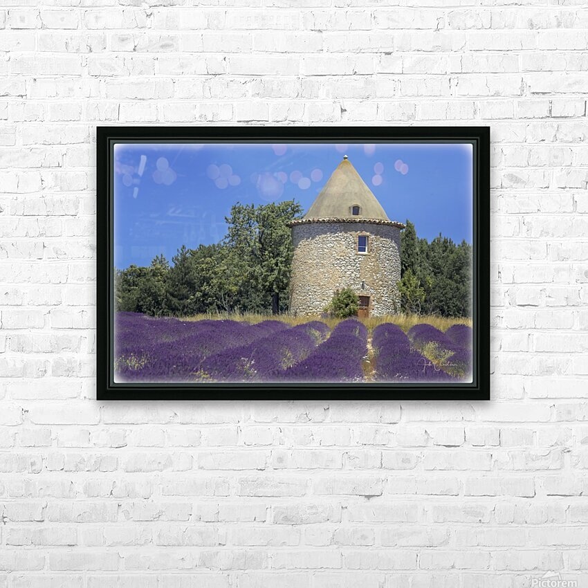 Provence lavande moulin HD Sublimation Metal print with Decorating Float Frame (BOX)