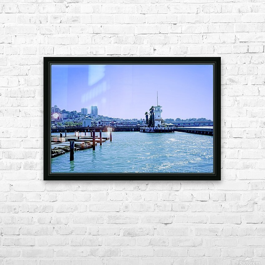 San Francisco Bay HD Sublimation Metal print with Decorating Float Frame (BOX)