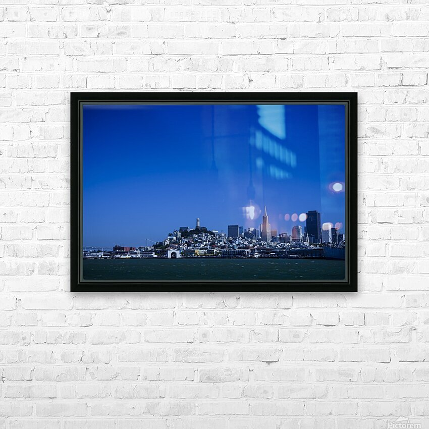 San Francisco HD Sublimation Metal print with Decorating Float Frame (BOX)