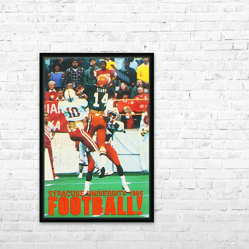 1985 Syracuse Orange Football Poster HD Sublimation Metal print with Decorating Float Frame (BOX)