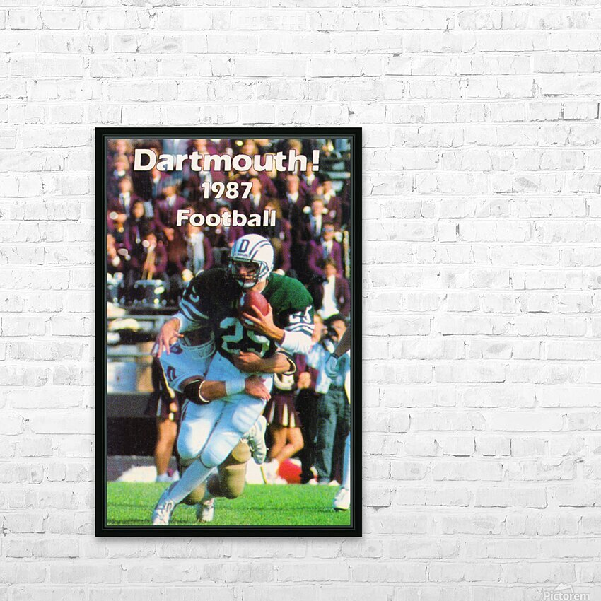 1987 Dartmouth Big Green Football Poster HD Sublimation Metal print with Decorating Float Frame (BOX)