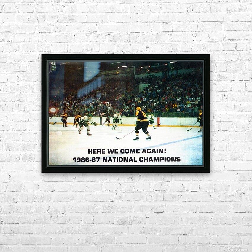 1987 University of North Dakota Hockey HD Sublimation Metal print with Decorating Float Frame (BOX)