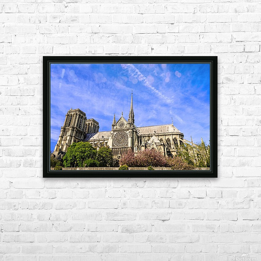 Notre Dame Paris HD Sublimation Metal print with Decorating Float Frame (BOX)