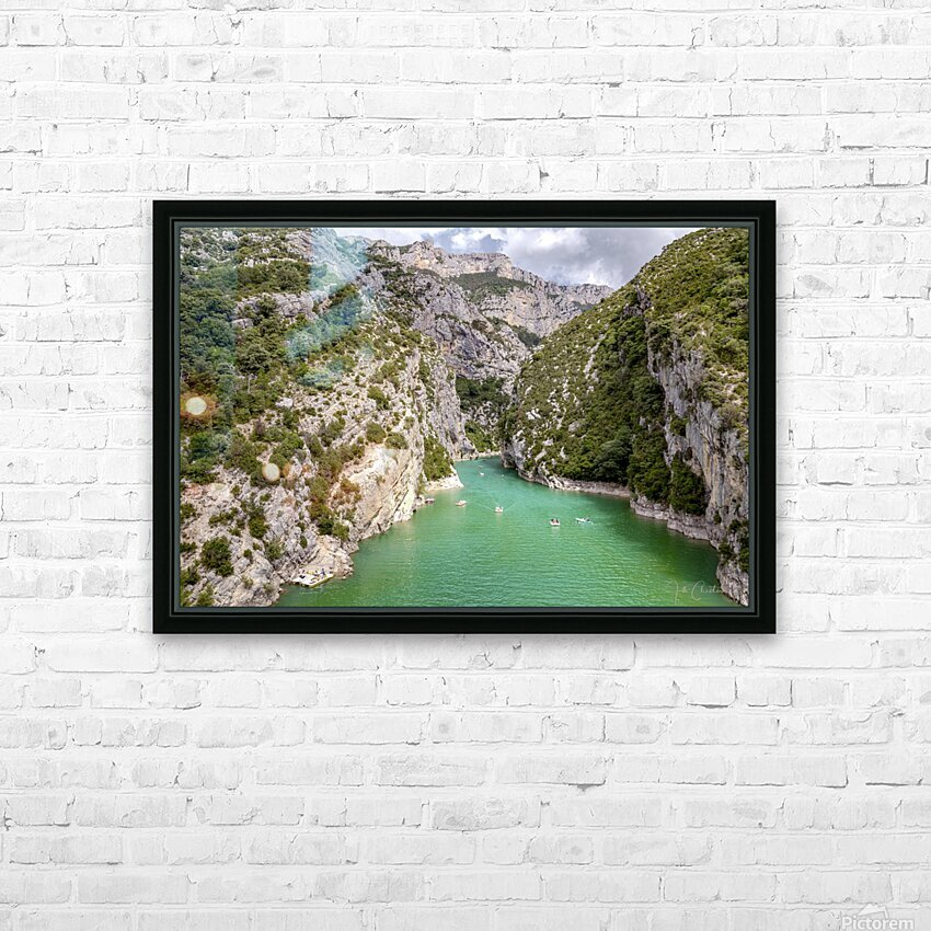 Les Gorges du Verdon HD Sublimation Metal print with Decorating Float Frame (BOX)