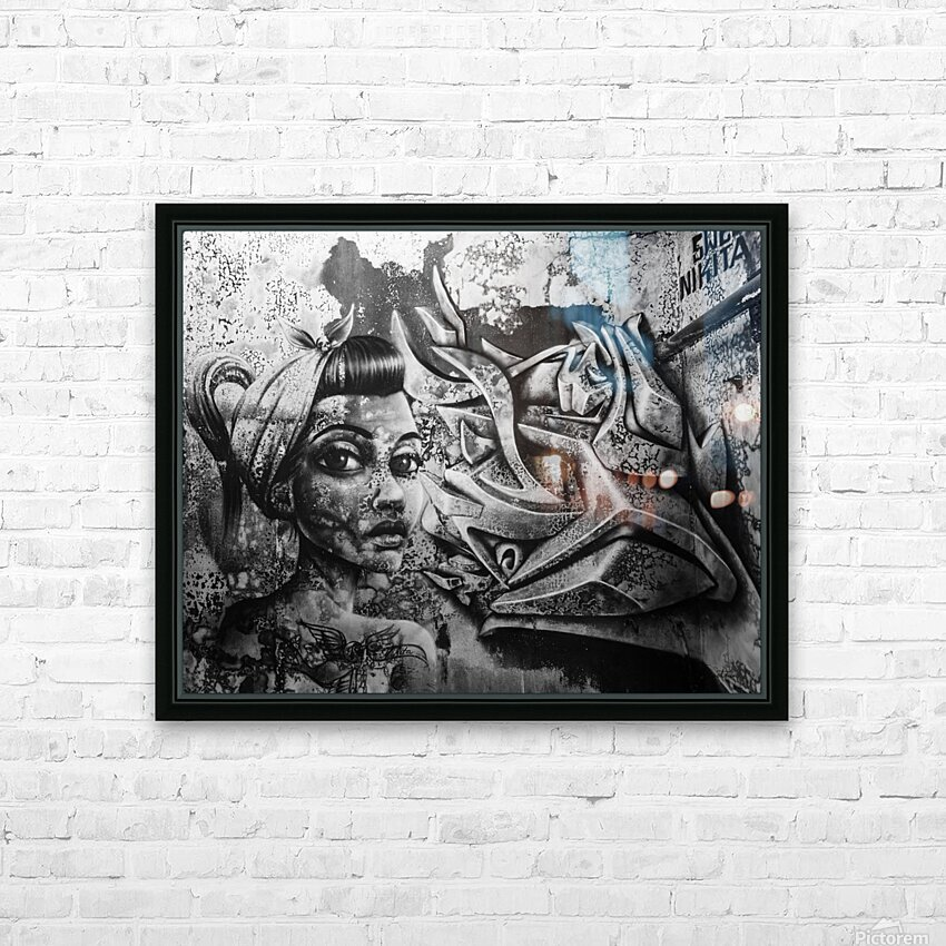 Art Graffiti HD Sublimation Metal print with Decorating Float Frame (BOX)