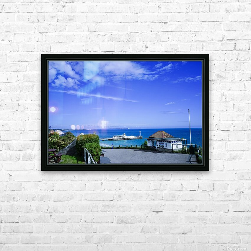 English Seaside Bournemouth HD Sublimation Metal print with Decorating Float Frame (BOX)
