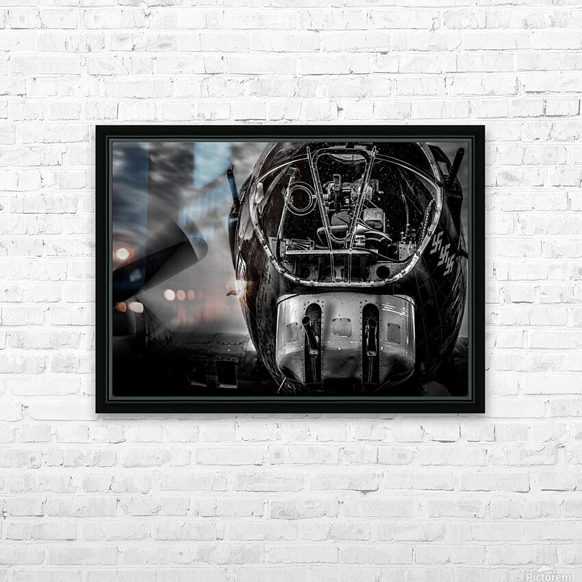 B17 Flying Fortress HD Sublimation Metal print with Decorating Float Frame (BOX)