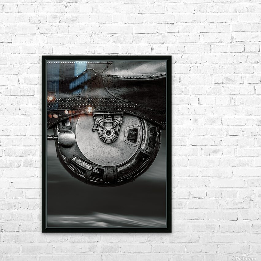 Ball Turret HD Sublimation Metal print with Decorating Float Frame (BOX)