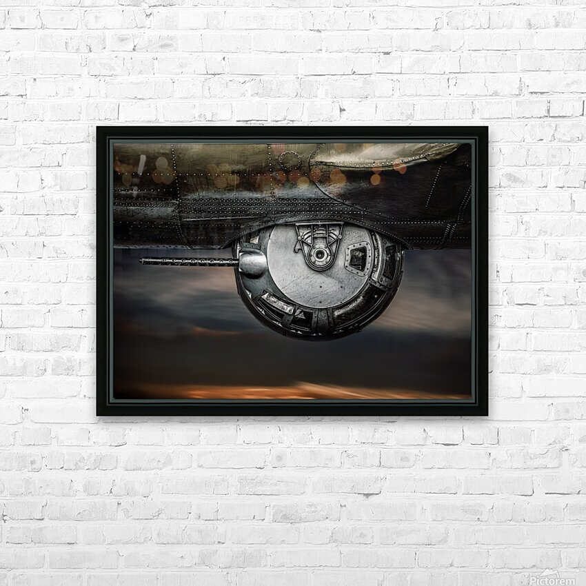 Ball Turret No 2 HD Sublimation Metal print with Decorating Float Frame (BOX)