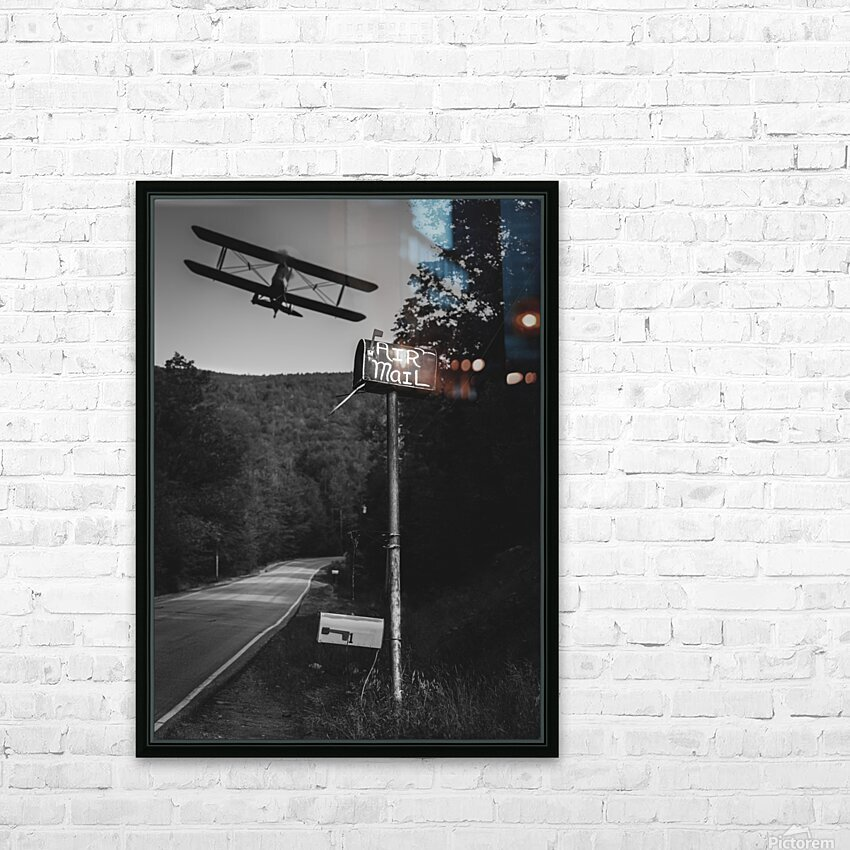 Air Mail Delivery HD Sublimation Metal print with Decorating Float Frame (BOX)