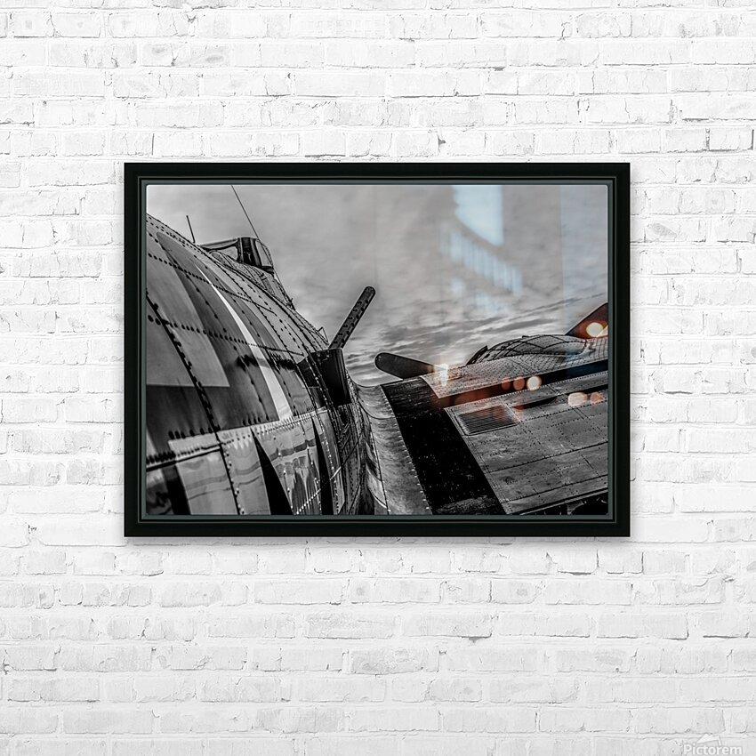 Over The Wing HD Sublimation Metal print with Decorating Float Frame (BOX)