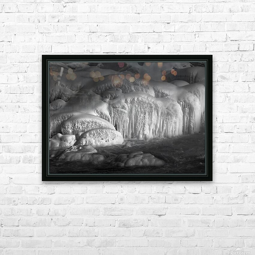 Ice Wall HD Sublimation Metal print with Decorating Float Frame (BOX)