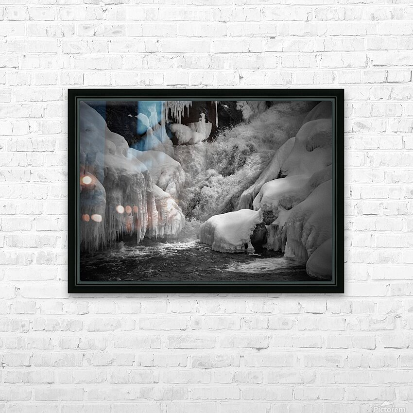 Early Spring Great Falls HD Sublimation Metal print with Decorating Float Frame (BOX)