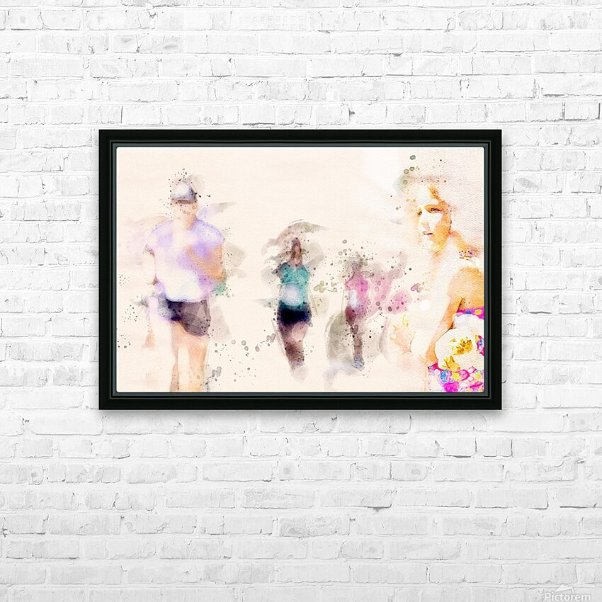 Day At The Race HD Sublimation Metal print with Decorating Float Frame (BOX)