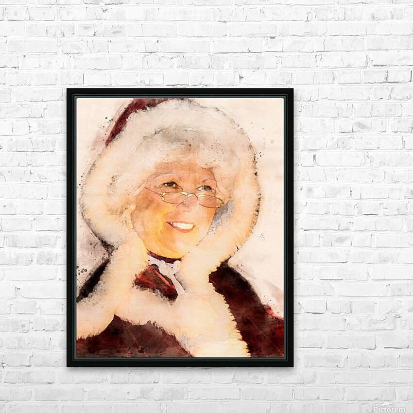 Mrs. Santa Claus HD Sublimation Metal print with Decorating Float Frame (BOX)