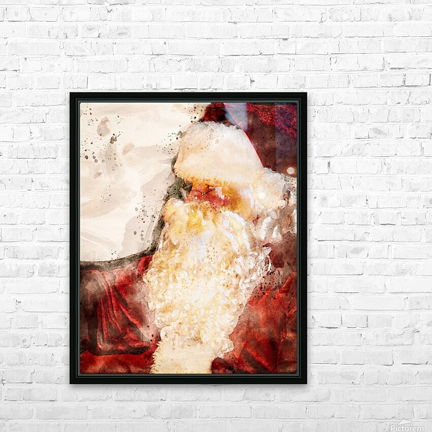 Santa Claus Christmas HD Sublimation Metal print with Decorating Float Frame (BOX)