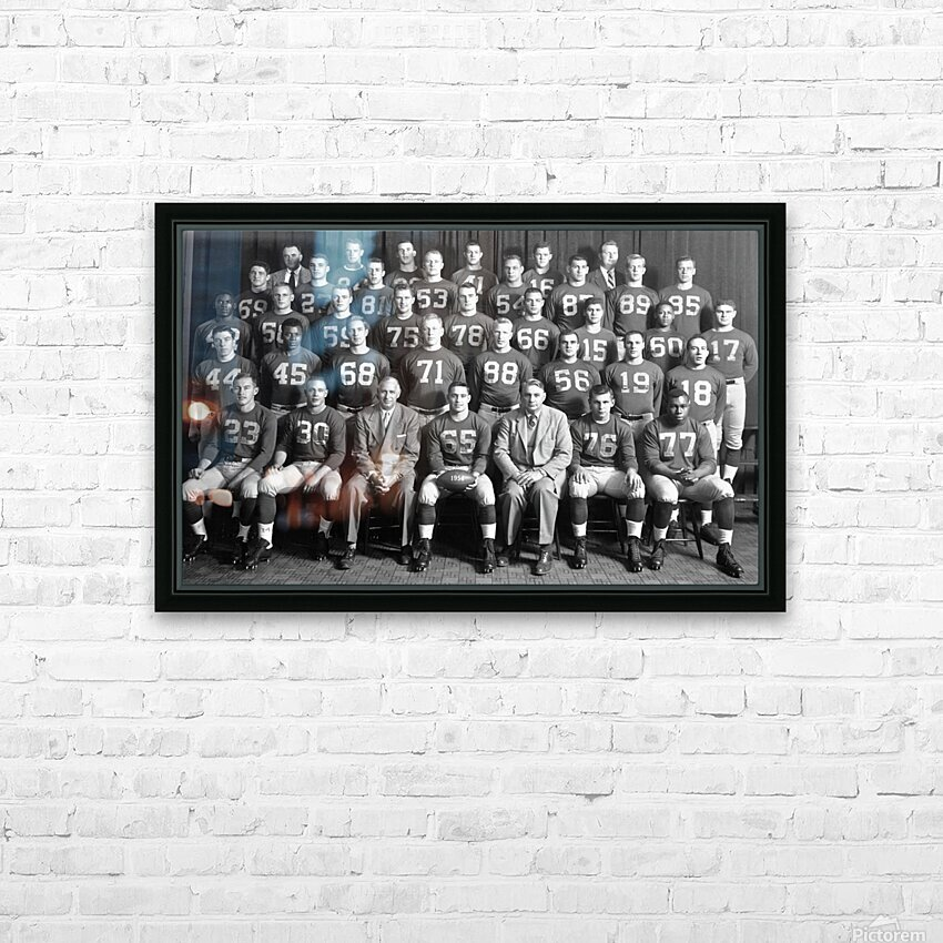 1954 University of Michigan Football Team Photo HD Sublimation Metal print with Decorating Float Frame (BOX)