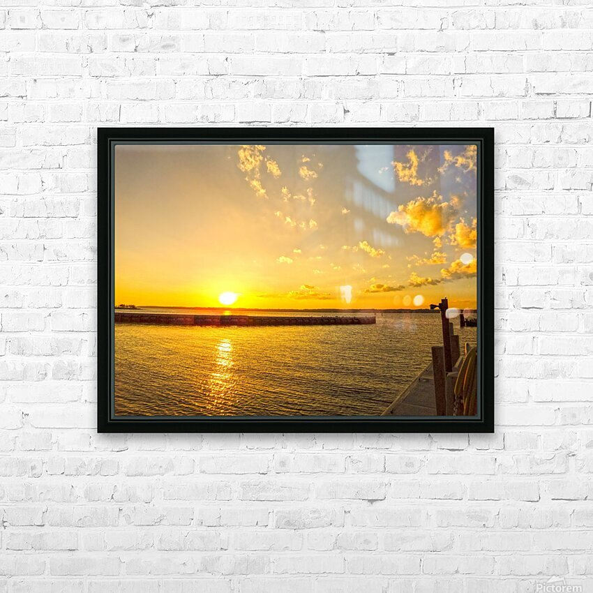 Low Country Sunset South Carolina HD Sublimation Metal print with Decorating Float Frame (BOX)