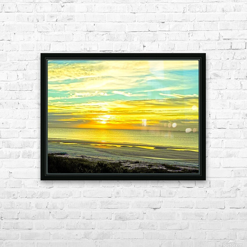 Sunrise in the Carolinas HD Sublimation Metal print with Decorating Float Frame (BOX)