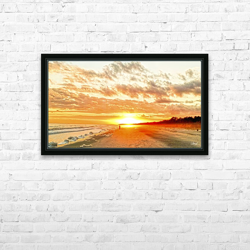 The Day Ends at the Seashore HD Sublimation Metal print with Decorating Float Frame (BOX)