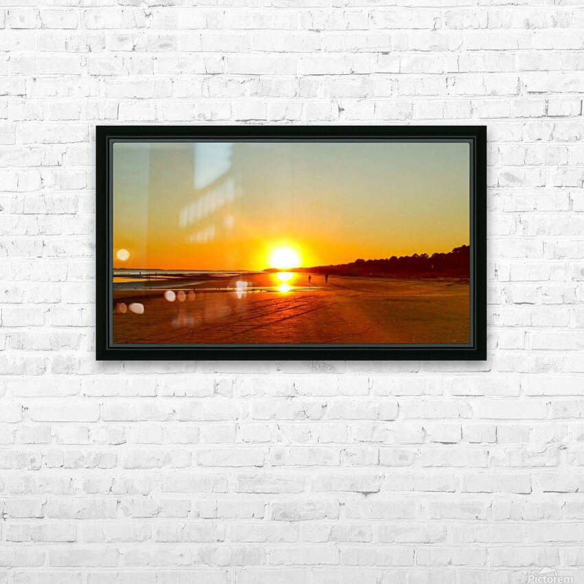 Sunset at the Atlantic Shore HD Sublimation Metal print with Decorating Float Frame (BOX)